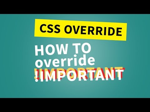 CSS important Override | How to override !important