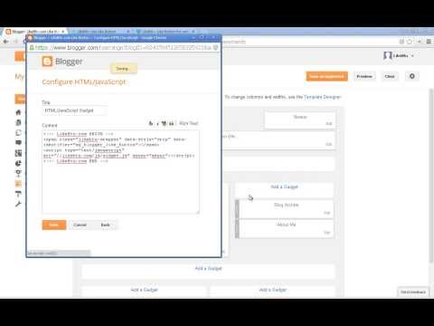Add Like Button to Blogger Using HTML/JavaScript Gadget