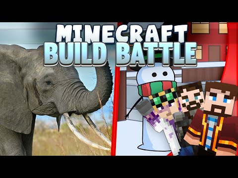 Minecraft Build Battles - Elephant and Snowman