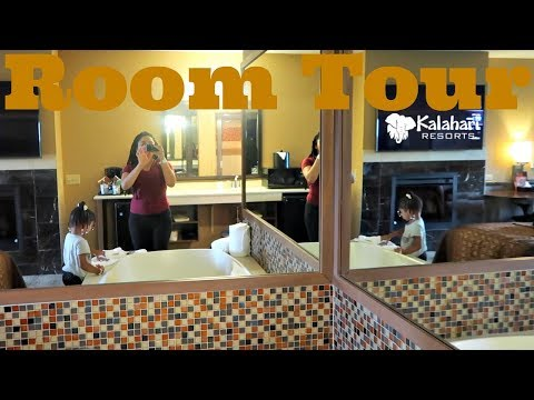 Zoë's 4th Bday Kalahari Resort King Whirlpool Suite Room Tour