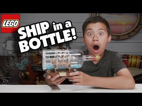 I BUILT A LEGO SHIP IN A BOTTLE!!!