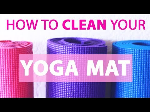 How To Clean Your Yoga Mat At Home | NATURAL Yoga Mat Cleaner Recipe