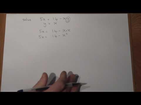 GCSE Maths New Style Quadratic Simultaneous Equations