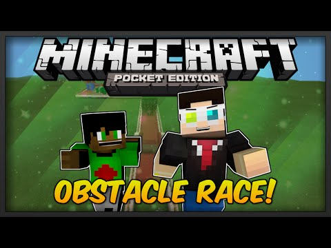 [0.9.0] Minecraft Pocket Edition: Obstacle Race Multiplayer Minigame w/My Bro