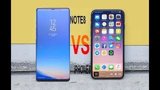 Samsung Galaxy Note 8 VS iPhone 8 : Comparison