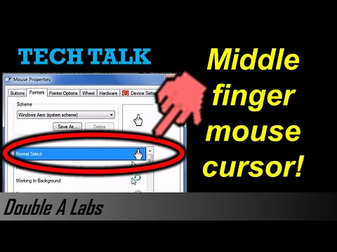 Middle Finger Mouse Cursor