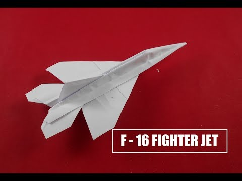 How To Make Paper Airplane - Easy Paper Plane Origami Jet Fighter | F-16 Fighter Jet