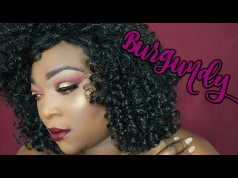Dark Skin || Burgundy Makeup Look