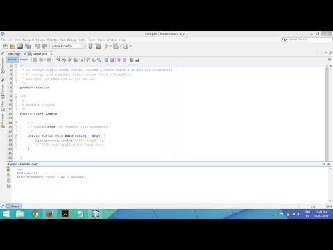 How to run java program using Netbeans