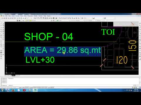 Calculate area anD perimeter by poly line Auto CAD ?