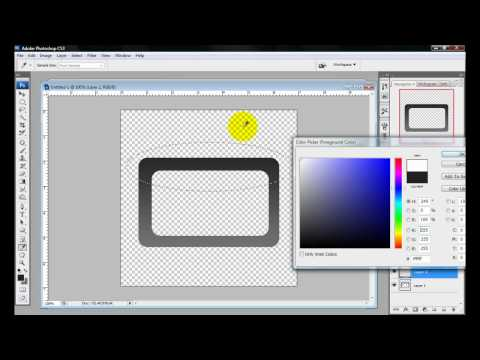 How to Make a Border Using  Rounded Rectangle Tool