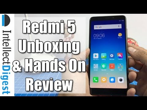 Xiaomi Redmi 5 India Unboxing, Hands On, Camera Test & Features Overview | Intellect Digest