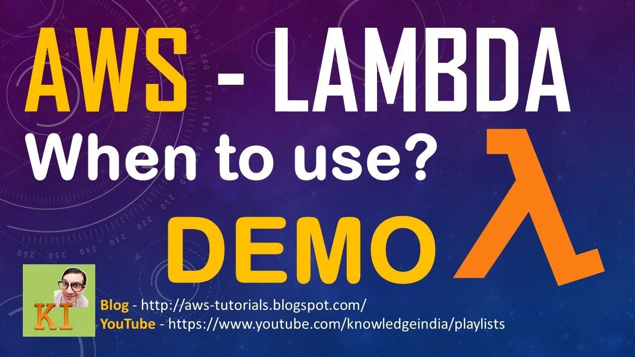 AWS Lambda - DEMO - Serverless code execution - Automate EBS Snapshot Example