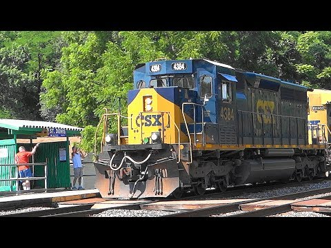 CSX Train Action In St Denis, Maryland