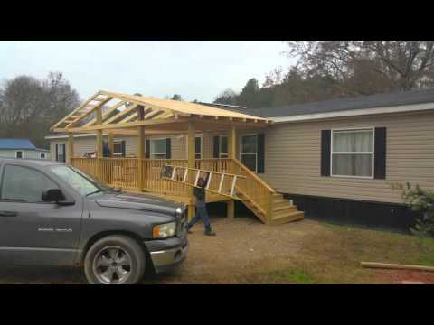 Closing in deck roof