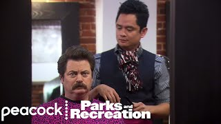 Ron Swanson's New Hairdresser - Parks and Recreation