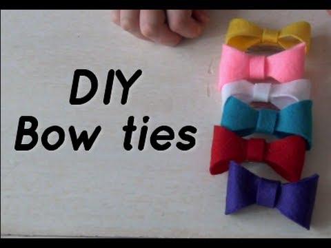 DIY Cute Bow Ties - Hair Accessories