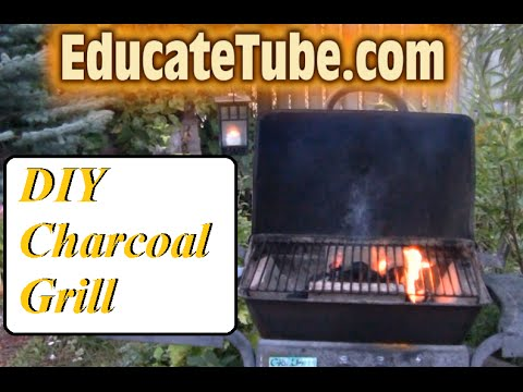 How to convert broken propane tank grill into charcoal grill  An Easy 1 Hour Weekend Project