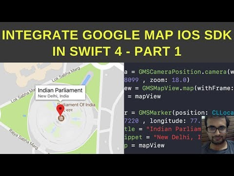 Integrate google map iOS SDK in Swift 4 - Part 1