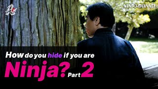How would you hide if you are a ninja? Indoor & outdoor cases