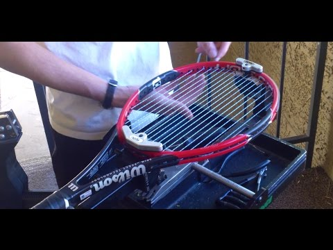 How to String a Wilson Pro Staff 97 Lite Tennis Racquet