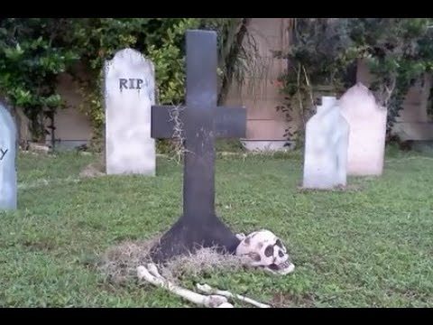 simple way to make grave stones