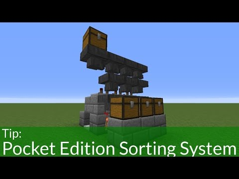 How to Build a Sorting System in Minecraft PE