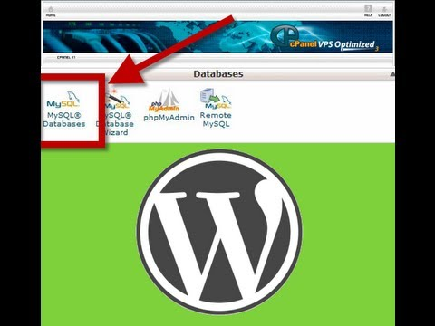 Create a MySQL database in cPanel for WordPress