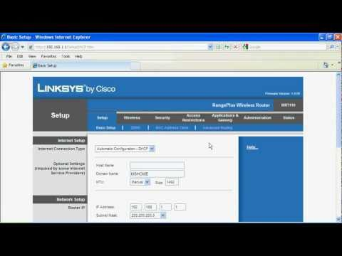 How to Add a Password to your Wireless Router, and Auto. Connect to it. (Linksys)