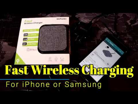 Wefunix Fast Wireless Charger for iPhone!