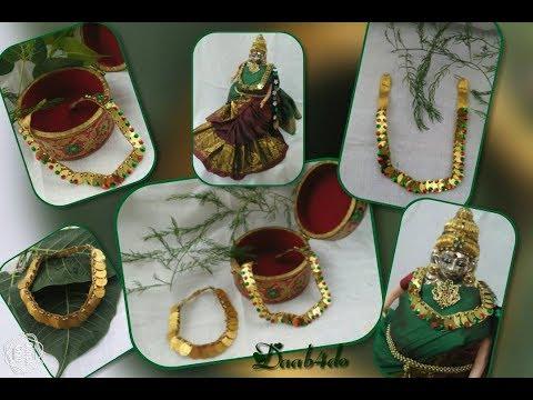 KASULAPERU Necklace for Varalakshmi Vratam    Puja    Idol Decorations   
