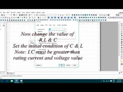 Overdamped RLC analysis by Multisim