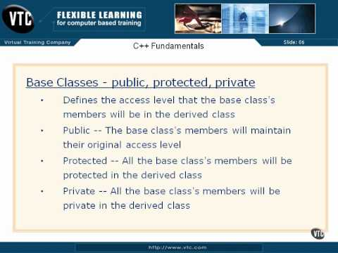 06  C++ Class Member Access   34  Base Classes