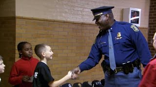 11-year-old throws Thank You party for police