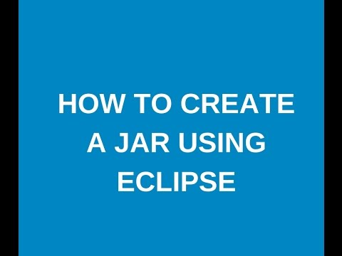 How to create a jar using eclipse ?