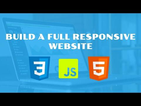 HTML5, Css, js  Responsive Website 2018