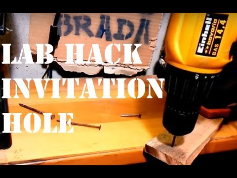 Lab Hack  invitation hole by PaoloBradaDIY