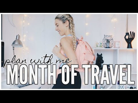 PLAN WITH ME | One Month of Travel