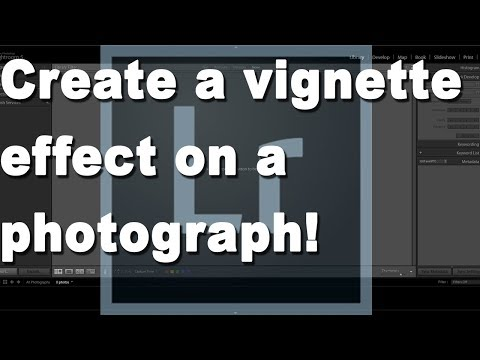How to create a vignette effect on an image in Adobe Lightroom