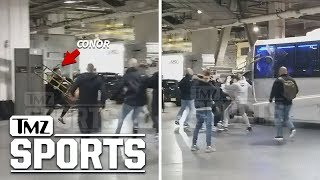 Insane Alternate Angle of Conor McGregor Bus Attack | TMZ Sports