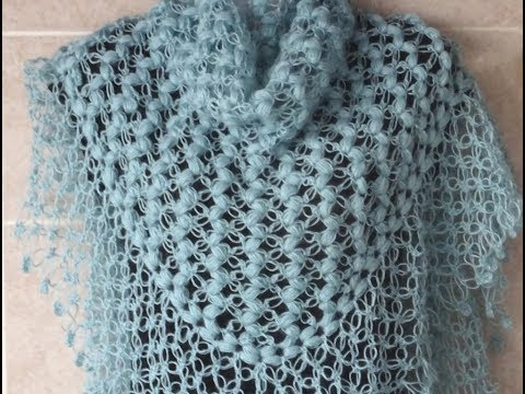 Crochet Pattern *EASY AND PRETTY PATTERN FOR A SHAWL *