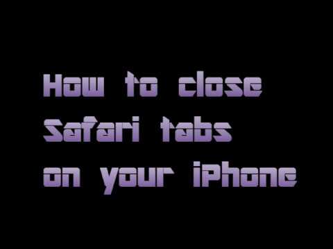 How to Close Multiple Safari Browser Tabs on an iPhone