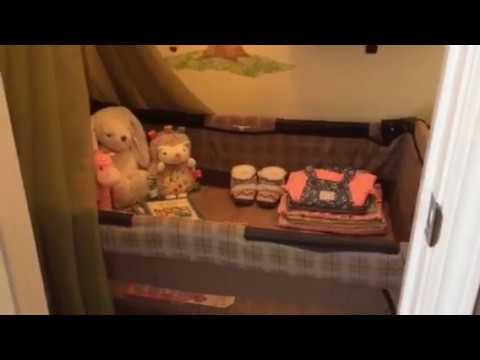 DIY Tiny baby nursery in closet!