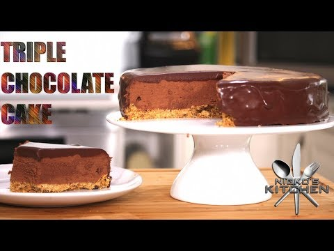 Triple Chocolate Mousse Cake | Layered Chocolate Heaven!