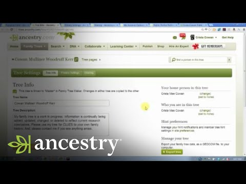 Ancestry.com Online Family Trees: Privacy and Sharing