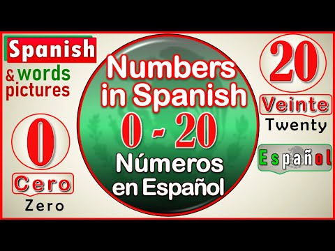 The Numbers in Spanish | Count from 0 to 20 in Spanish | Learn How to Say the Numbers in Spanish