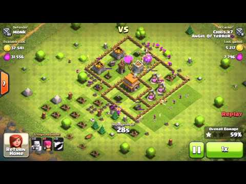 COC Monk Vs Chris.K7 Clash of Clans Game Play