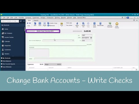 How to Change Bank Accounts when Writing Checks in QuickBooks
