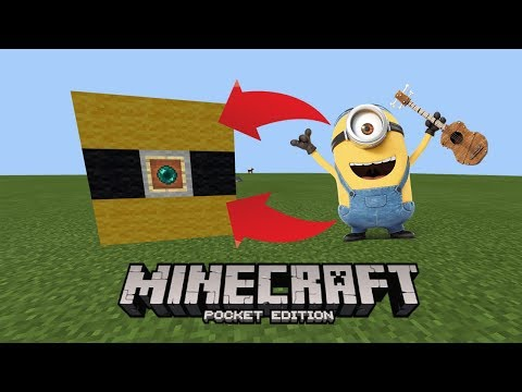 How To Make a MINION Spawner in Minecraft Pocket Edition