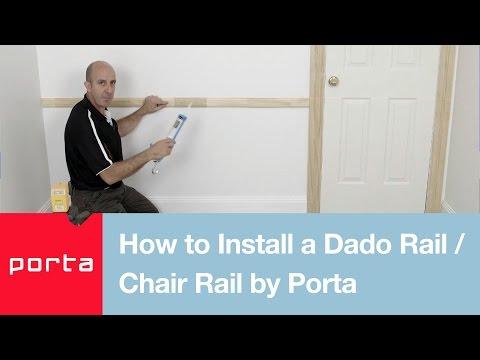 How to Install a Dado Rail/ Chair Rail by Porta